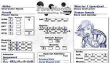 Akiko character sheet